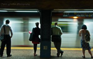 Waiting for the Train by Ensoled