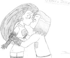 Jessie and James Kiss by maxinethebean