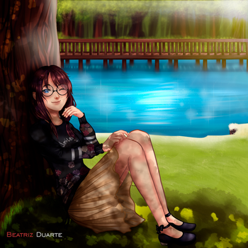 Girl with Glasses by Beatriz12