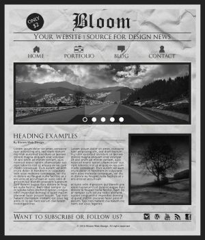 Grungy Newspaper Web Design by Bea228