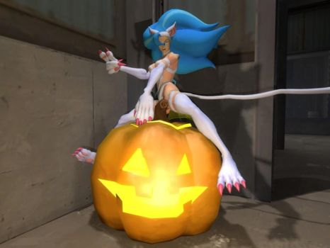 Felicia Halloween Wallpaper by Sabretooth