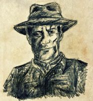 Stranger from the Wild West-rough sketch by masterpandastudios