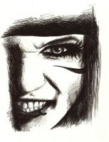 Andy Sixx Pen Portrait by Karolina5n