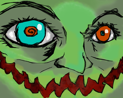Up-close smiling Goblin face by Poorartman