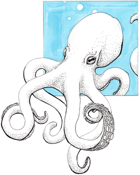 Inktober - Octopus by TheRareRed