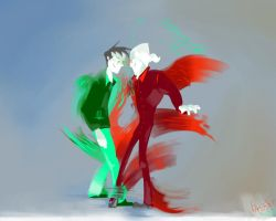 DP: Pompous Tango by Aroshi-Wish