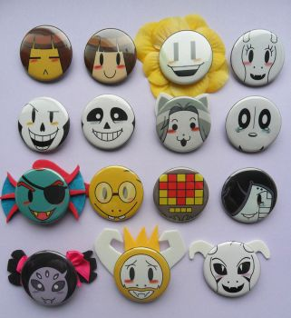 Undertale Buttons by PapillonthePirate