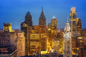 Philadelphia Skyline by Nightline