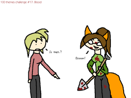 100 themes: Blood by the-f-word
