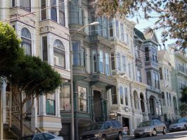 Victorian houses in S.F. by LunaticDesire