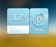 Blue Gear Widget V2 for xwidget by jimking