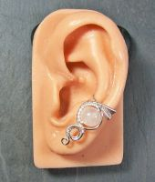 Moonstone and Silver Woven Gemstone Ear Cuff by HeatherJordanJewelry