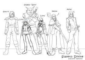 Slayers Divine character refs by djwagLmuffin