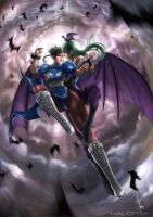 Chun Li Vs Morrigan by magion02