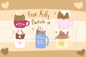 Free Kitty Batch 1 - Simple Kitties! (All Taken!) by CannibaI