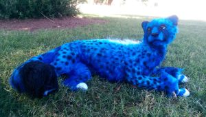 Handmade Poseable Cheetah Cub by KaypeaCreations
