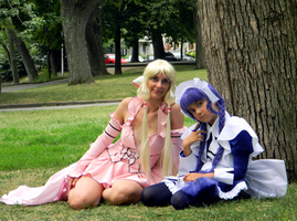 Chii and Yuzuki from Chobits by JadeDragonne