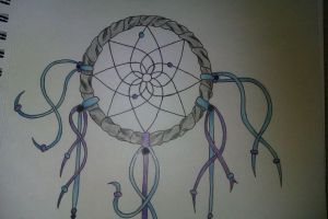 Dream Catcher Tattoo Design Close-up (Top) by Rock-N-Roller14