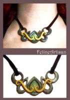 Green Turqoise Pendant by FelineArtisan