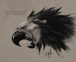 The Witcher III Royal Griffin by Orpheelin