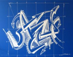 Sharpie Blue Print by PinstripeChris