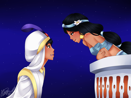 A whole new world- Alladin and Yasmin by littlemary08