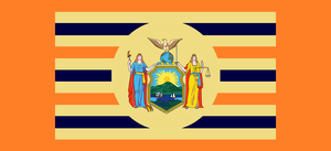 New York State Flag Proposal By: Stephen R. Barlow by DesertStormVet