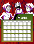 DtGR 2016 Calendar- April by Eleanorose123