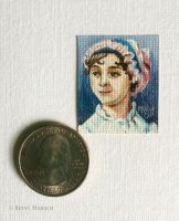 Minuscule Jane Austen by Paintsmudger