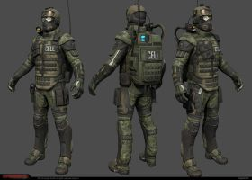 CELL Trooper low-res model by Bogdanbl4