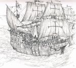 Armada galleon by WolfFlunky