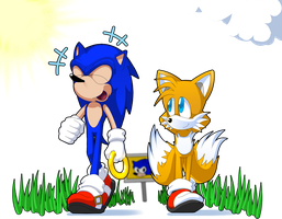 Sonic And Tails - colored by mav845