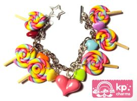 lollipops bracelet 3 by KPcharms
