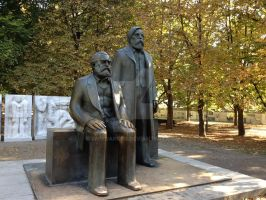 Berlin Marx And Engles by Impedancer