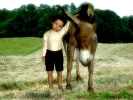 A Donkey and his Boy... by Zethara