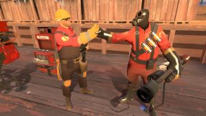 Engie and Pyro are bros! by 1odie2