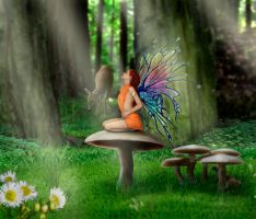 Woodland Fairy by Dracoart
