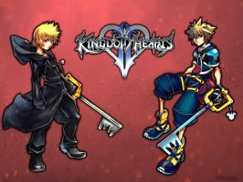 KH2: Roxas and Sora WP by DarkPixieTears