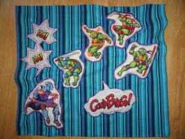 TMNT_embroidery by Zeephra