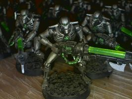 Necron warrior closeup by Commander5638