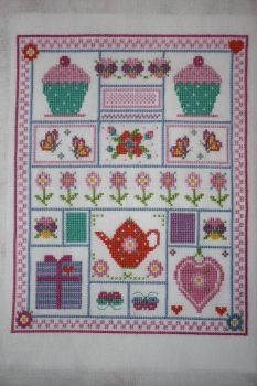 Girly Sampler, World of Cross Stitching issue 212 by StitchingDreams