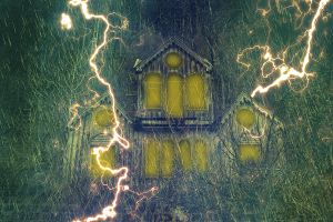Spooky House Wallpaper by cazcastalla