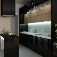 Small black kitchen by pnn