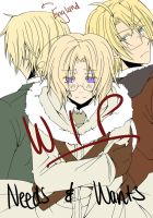 Needs and Wants Title Page WIP by Hetalia-Canada-DJ