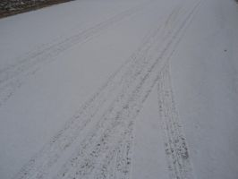 Snow on Road by Chris01125