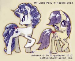G1 to G4 - Majesty and Lemon Drop sketches by nattherat