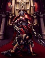 Arishok and Hawke final battle by AHague