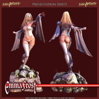 Emma Frost Presentation Sheet by HazardousArts