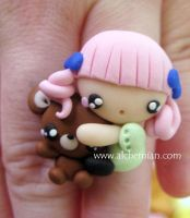 Kawaii ring by AlchemianShop