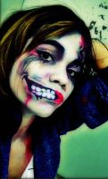 me zombie makeup by JellyPhotography2000